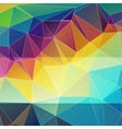 multicolored abstract background triangles vector image vector image
