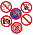 No Photo Camera Sign No photo Icon Button vector image vector image