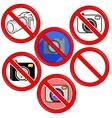 No Photo Camera Sign No photo Icon Button vector image