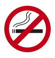 no smoking sign on a white background vector image