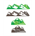objects mountains vector image vector image
