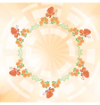 orange background with flowers and butterflies vector image vector image
