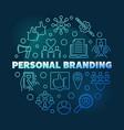 personal branding circular blue outline vector image vector image