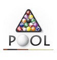 pool billiards background vector image vector image
