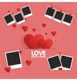Postcard Happy Valentines Day template for photo vector image vector image