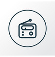 radio icon line symbol premium quality isolated vector image