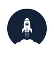 rocket startup vector image