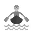 Rowing Person vector image