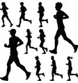 runner silhouette jogging vector image vector image
