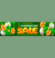 saint patricks day sale horizontal banner vector image