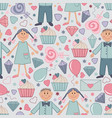 seamless pattern for saint valentine day 04 vector image vector image