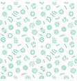 seamless pattern with pathogen virus vector image vector image