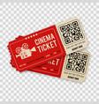 set cinema tickets vector image vector image