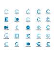 set initial letter c logo template design vector image vector image