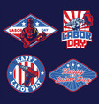 set of badge labor day design vector image vector image