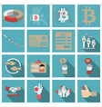 set of economics icons in flat style with long vector image vector image