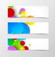 Set of header banner dynamic design vector image vector image
