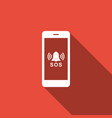 sos call icon isolated with long shadow vector image vector image