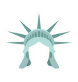 statue of liberty template face head mock up hair vector image vector image