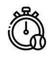 stopwatch ball icon outline vector image vector image