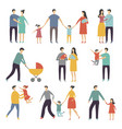 stylized of happy family adults and vector image vector image