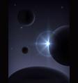 supernova explosion space landscape vector image vector image