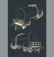 tank wagon blueprint vector image vector image
