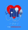 tonometer hypertension day poster vector image