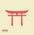 traditional japanese torii gate flat icon vector image