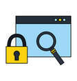 website security magnifying glass fintech digital vector image vector image