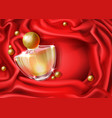womans luxury perfume realistic background vector image vector image