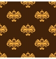 Yellow floral seamless pattern with intricate vector image vector image
