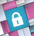 closed lock icon sign Modern flat style for your vector image