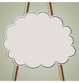 background with cloud and ropes vector image