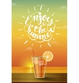Drink on the horizon vector image