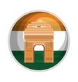 monument gate delhi india country design vector image
