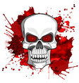 abstract image of a human skull vector image vector image
