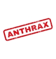 Anthrax Rubber Stamp vector image