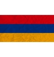 Armenia paper flag vector image