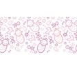 bagirls horizontal seamless pattern background vector image vector image