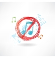 ban music grunge icon vector image vector image