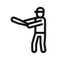 baseball gamer icon outline vector image vector image