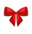 beautiful bow red isolated vector image vector image