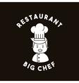 big chef restaurant menu vector image vector image