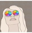 Blonde woman vector image vector image