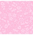 Bright romantic seamless pattern vector image vector image