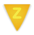 Bunting flag letter Z vector image
