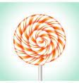 Candy cane sweet spiral vector image