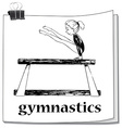 Card with girl doing gymnastics vector image vector image