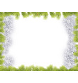 christmas frame background with fir tree border vector image vector image